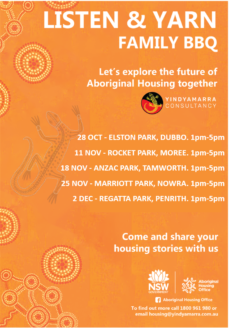 LISTEN & YARN - Lets explore the future of Aboriginal Housing together